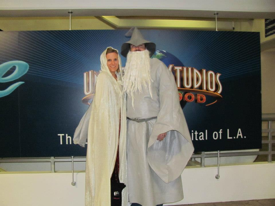 Kristi and Gary dressed up for Lord of the Rings movie premiere