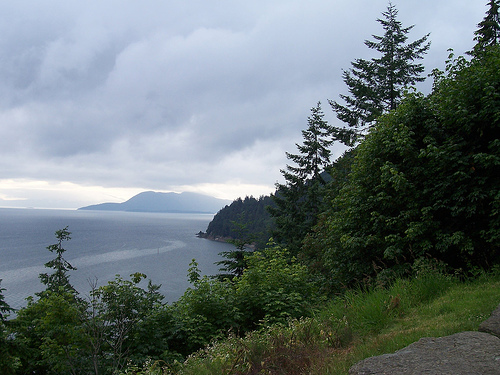 View of Bellingham Bay from Chuckanut Drive